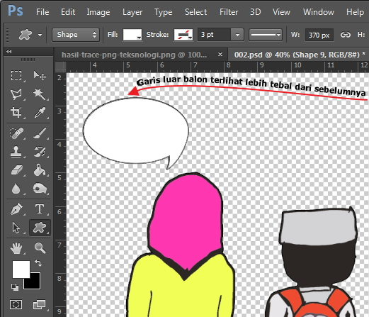 garis-balon-komik-photoshop-teksnologi