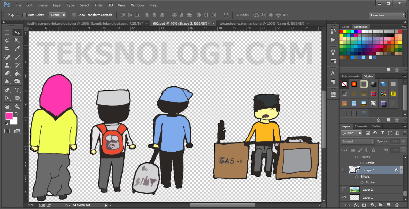 Mewarnai Gambar Komik Photoshop Teksnologi Teksnologi