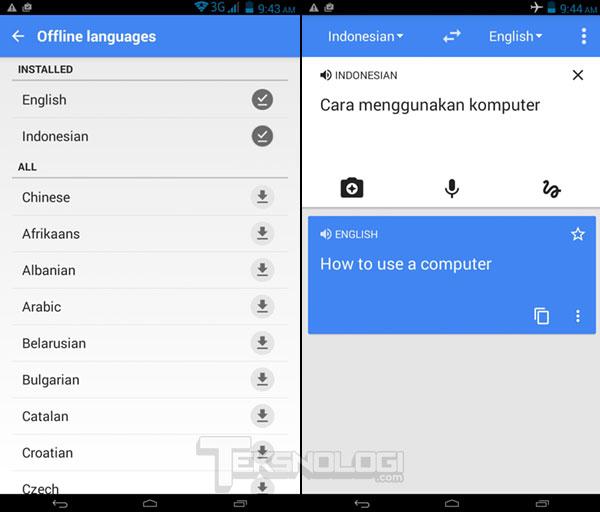 Cara Menggunakan Google Translate Secara Offline Tanpa Koneksi Internet