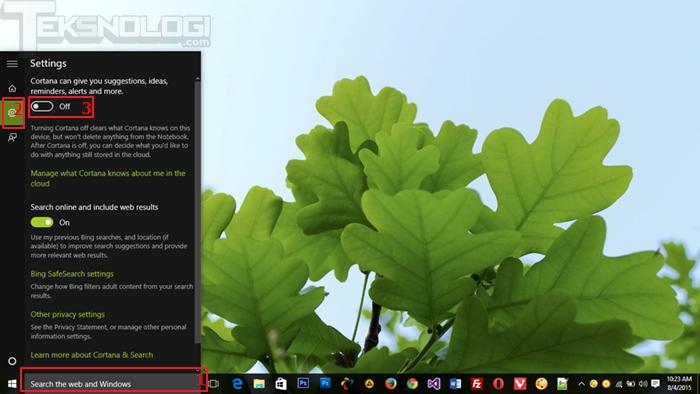 view-cortana-status-windows10