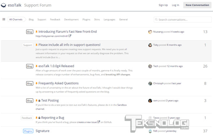 esotalk-forum-screenshot-demo