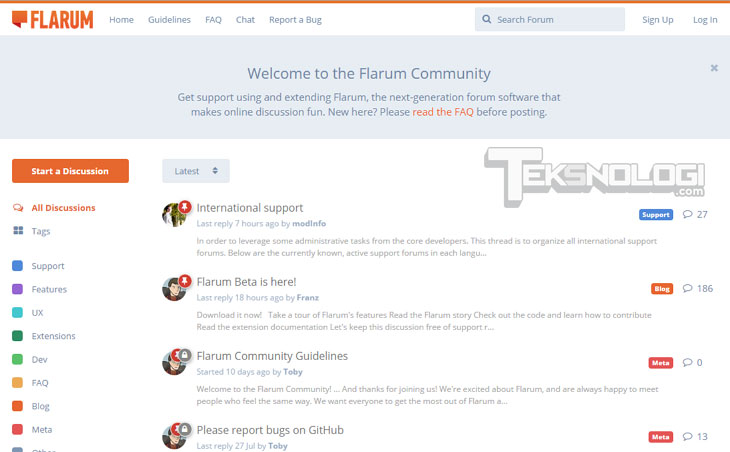 flarum-forum-screenshot-demo