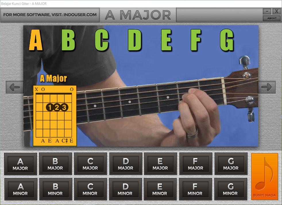 Belajar Kunci Gitar Dengan Software Buatan Indouser Com Teksnologi