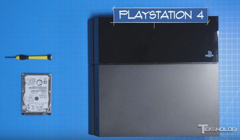 Cara Upgrade Hard Drive PlayStation 4
