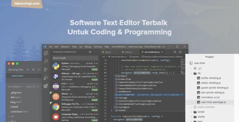 software text editor terbaik untuk coding