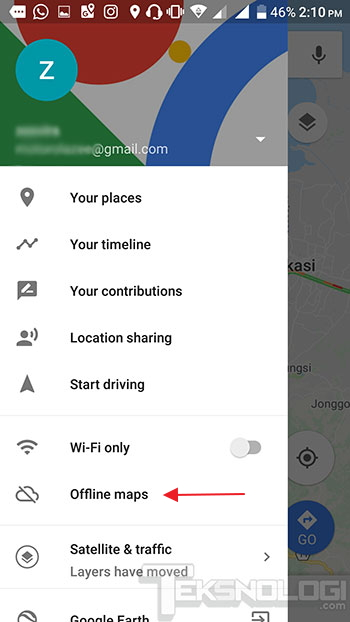 offline-google-maps-menu