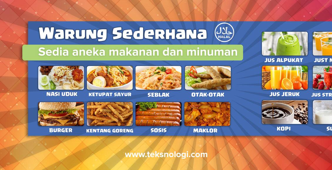 Contoh Desain Banner Menu Makanan - Best Banner Design 2018