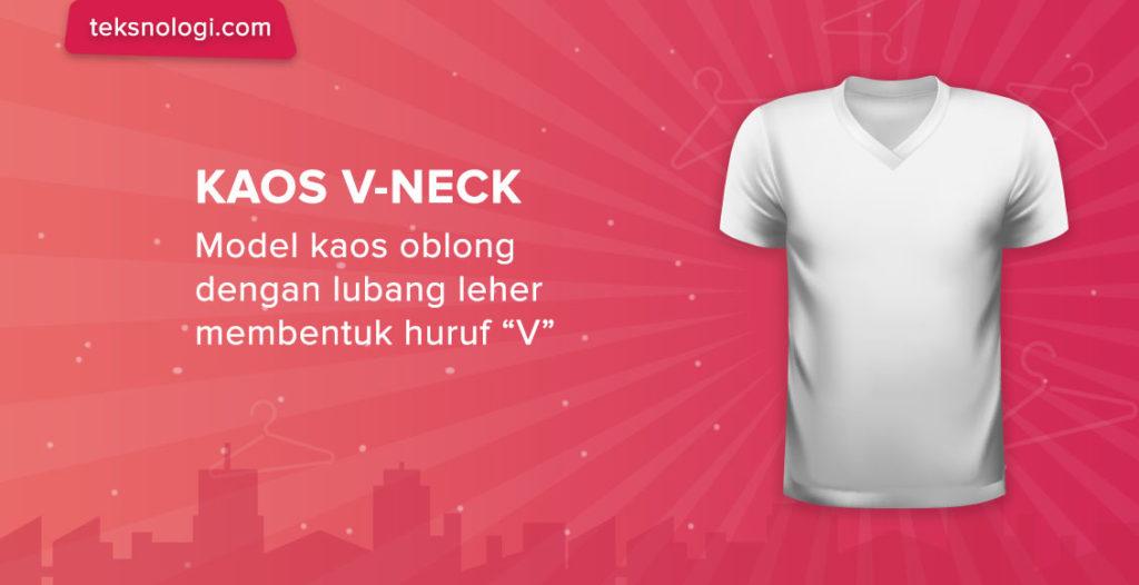 model-kaos-v-neck-shirt