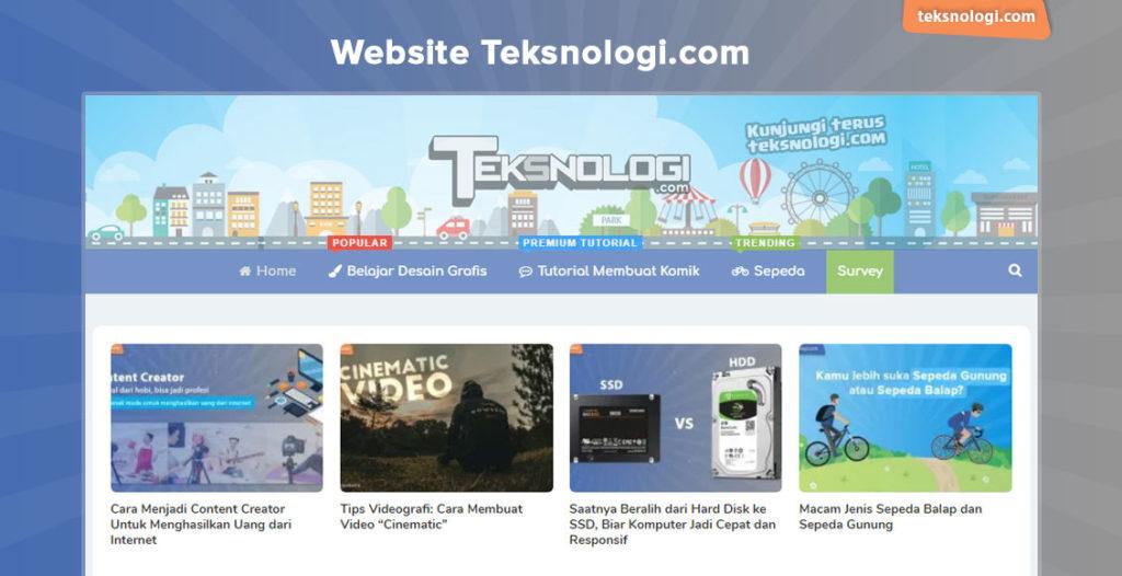 website teksnologi.com