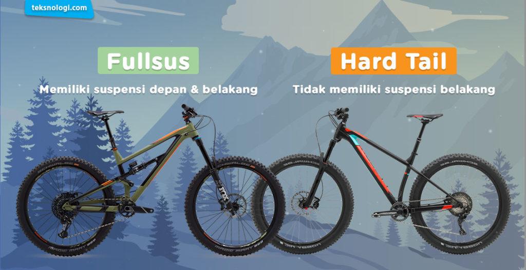 Sepeda hard tail dan sepeda full sus