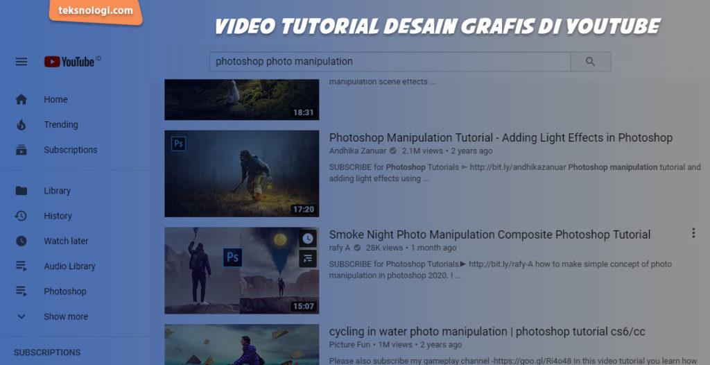 belajar desain grafis di youtube