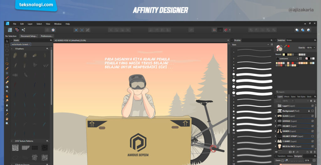 digital painting affinity designer