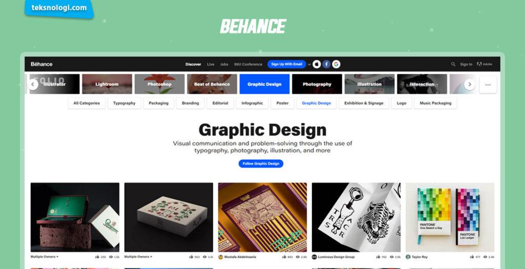 situs inspirasi desain grafis
