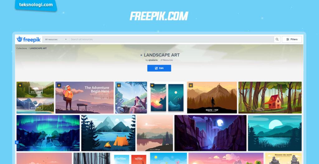 jual dan download vector di freepik.com