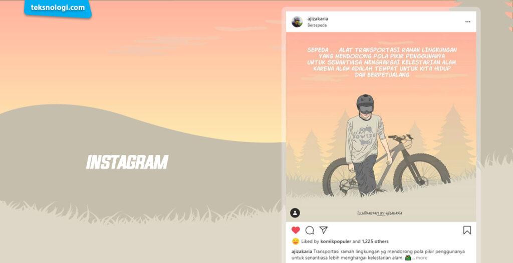 mencari inspirasi desain di instagram