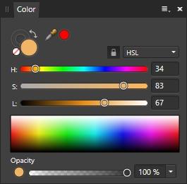 hsl hue saturation lightness