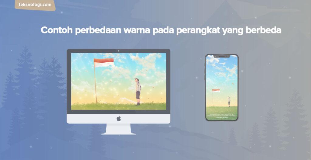 warna di monitor komputer berbeda dengan smartphone
