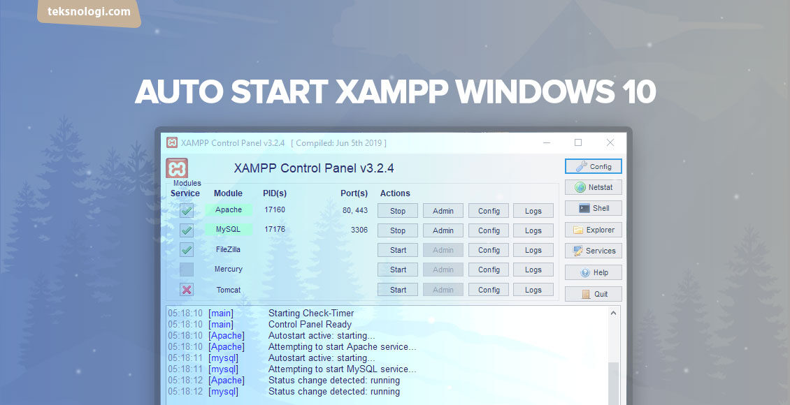 auto start xampp windows 10