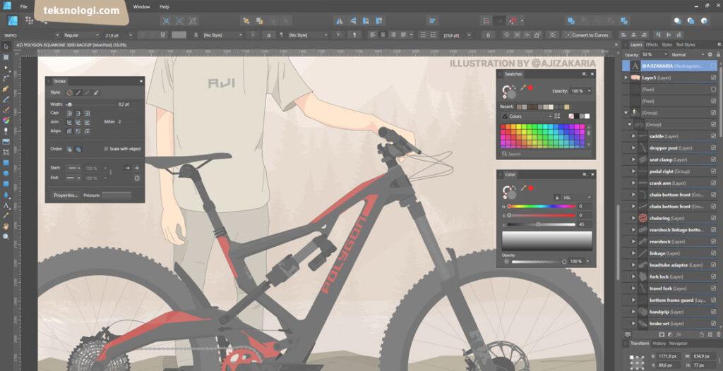 contoh desain vector art