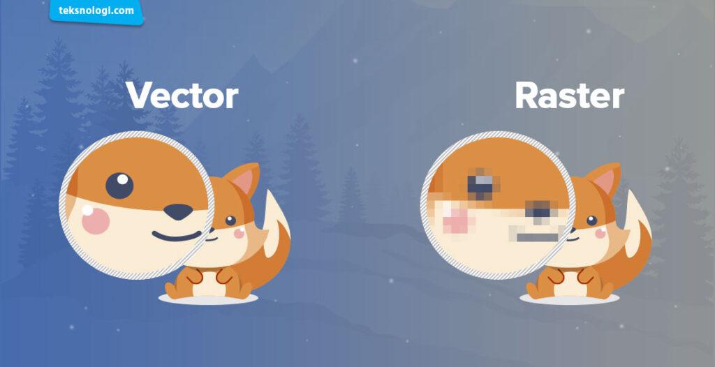 perbedaan raster dan vector