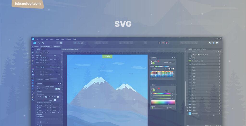 cara membuat gambar svg