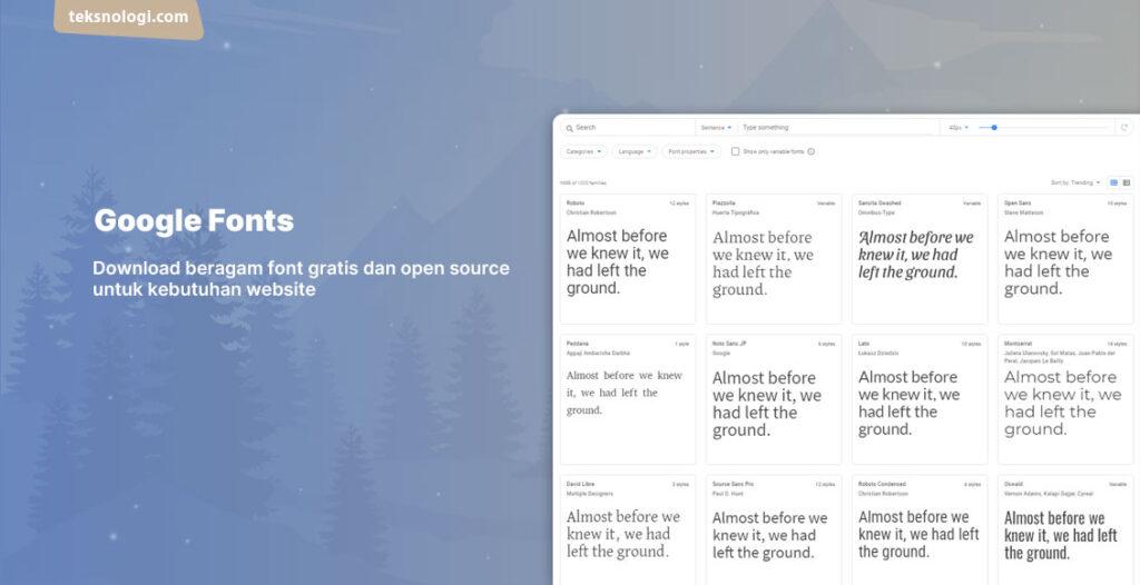 situs download font gratis terbaik dan lengkap