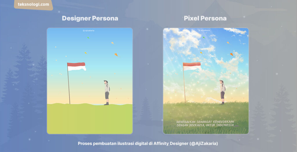 cara menggambar digital di affinity designer