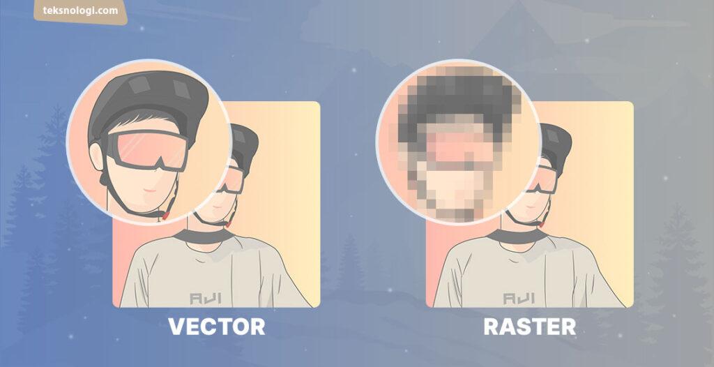 perbedaan vector dan raster