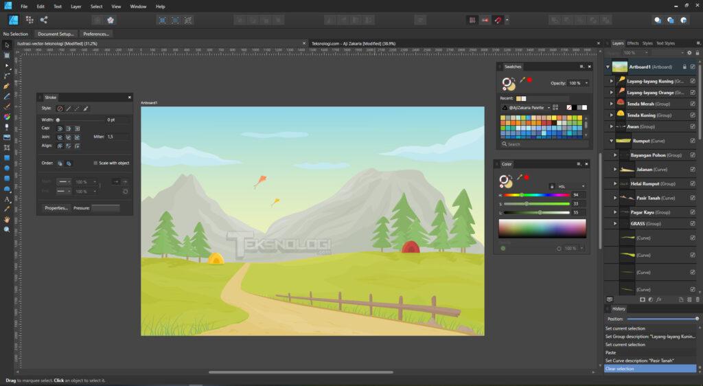 cara-membuat-ilustrasi-vector-di-affinity-designer