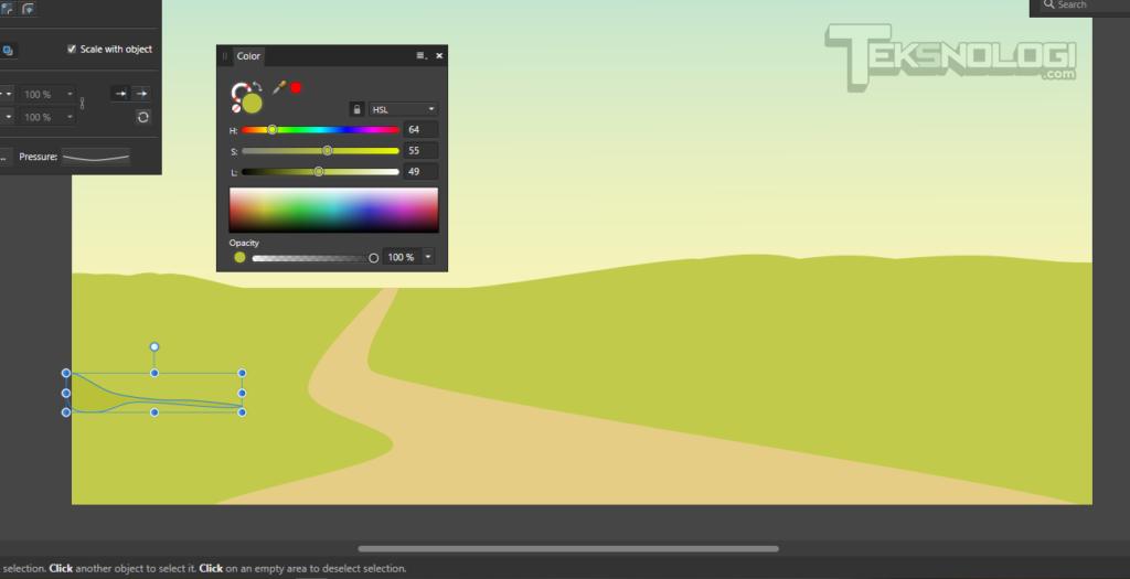 cara-membuat-tekstur-rumput-vector-affinity-designer