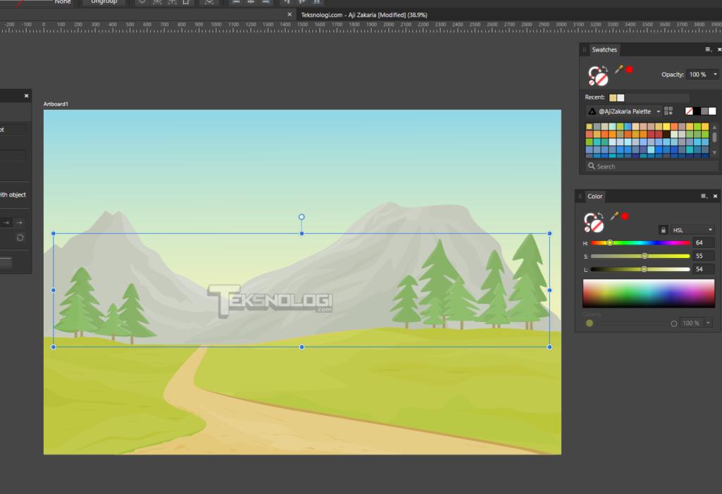 cara-membuat-vector-banyak-pohon-cemara-affinity-designer