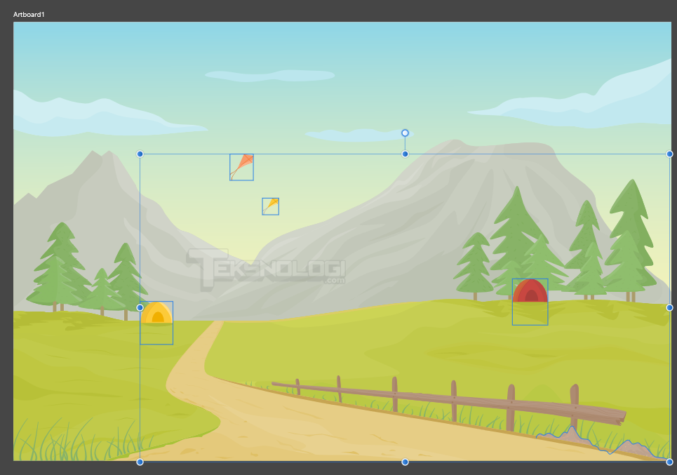 cara-membuat-vector-layang-layang-tenda-camping-affinity-designer