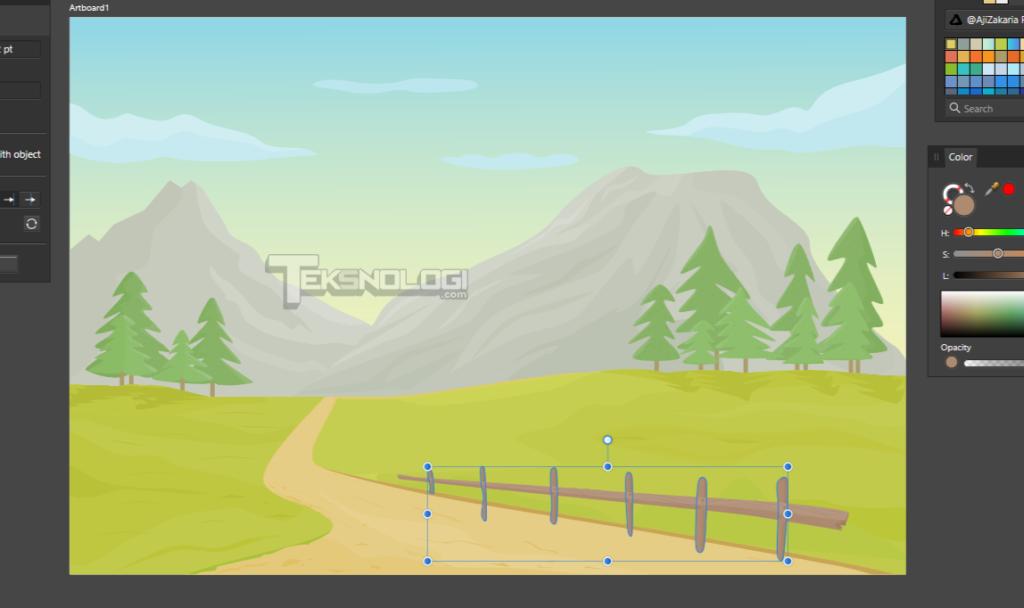 cara-membuat-vector-tiang-pagar-kayu-affinity-designer