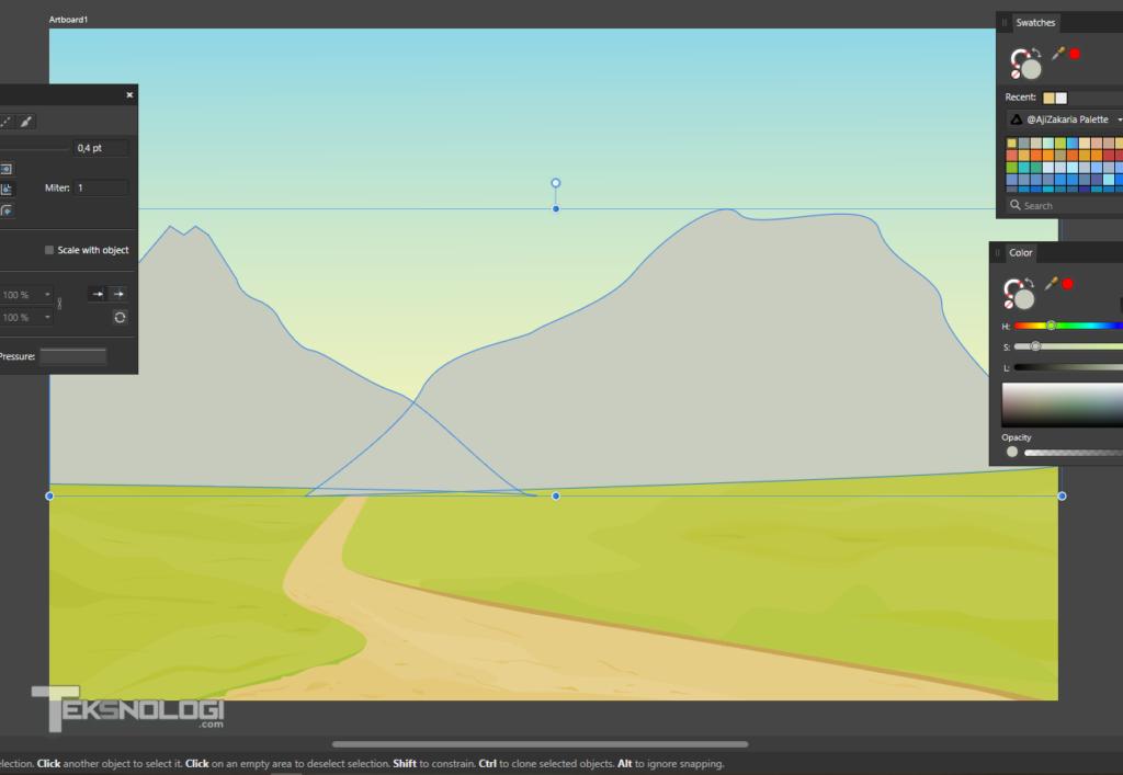 cara-menggambar-vector-gunung-affinity-designer