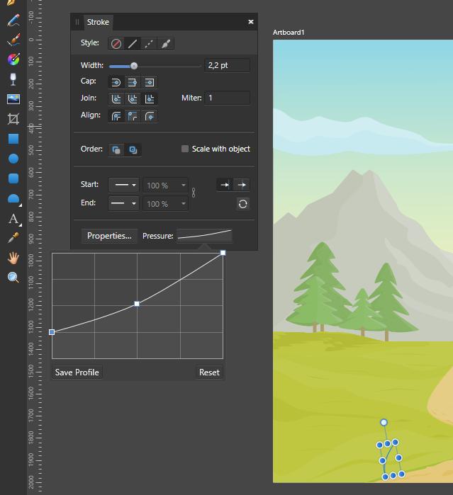 cara-menggunakan-stroke-pen-tool-pen-pressure-affinity-designer