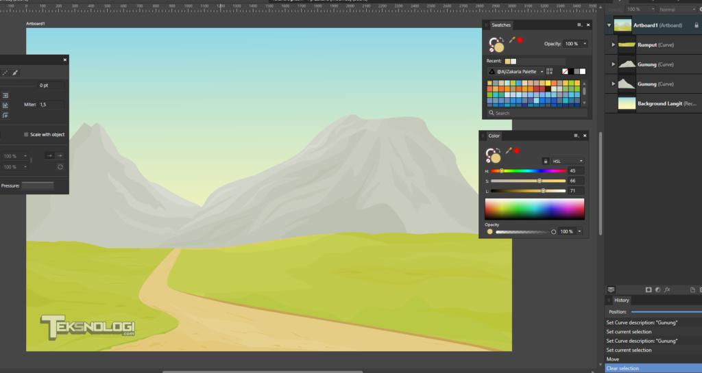 membuat-vector-gunung-pen-tool-affinity-designer