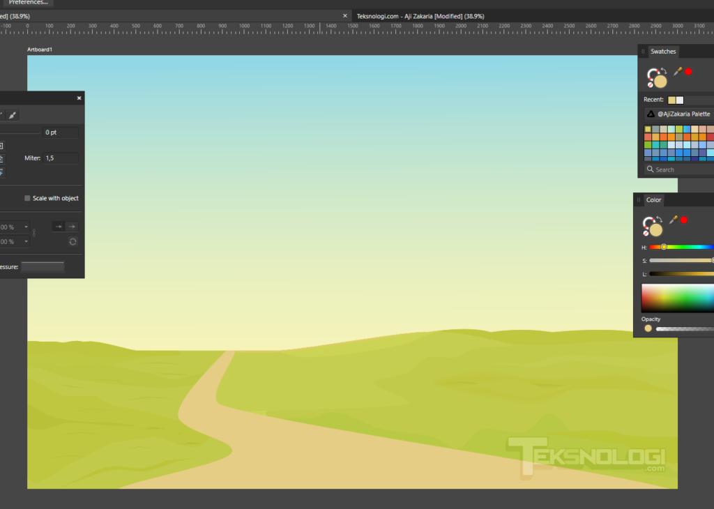 cara-membuat-tekstur-rumput-vector-dengan-pen-tool-affinity-designer