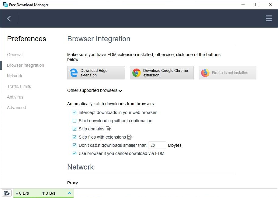 FDM Browser Integration