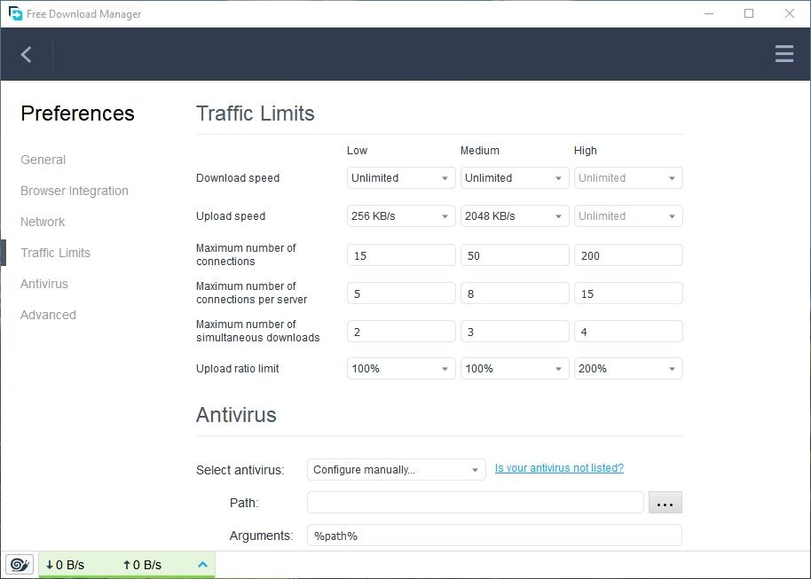 fdm-traffic-bandwidth-limit