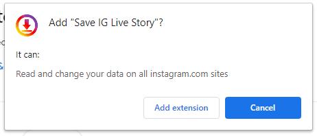save ig story chrome