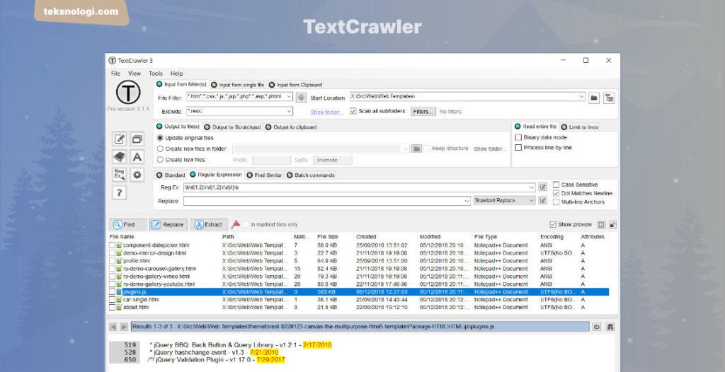 Text Crawler