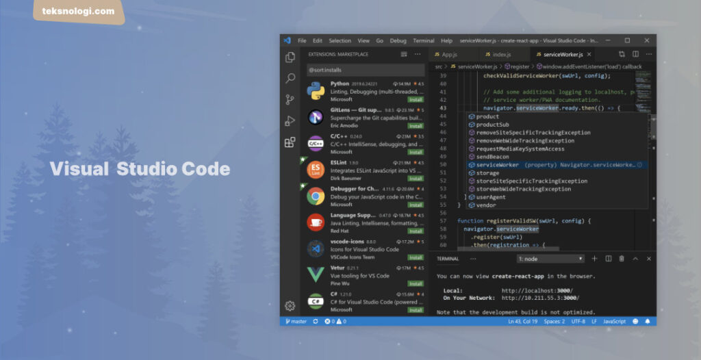 visual-studio-code-text-editor-terbaik-gratis