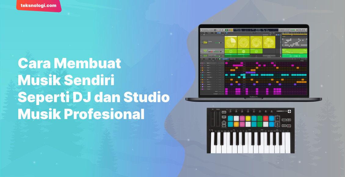 Kita bisa membuat pola atau pattern untuk sound design yang kita inginkan menggunakan keyboard