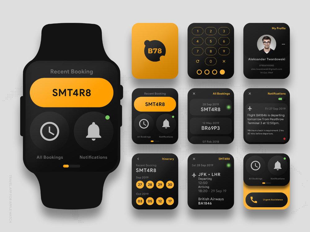 contoh desain ui smart watch