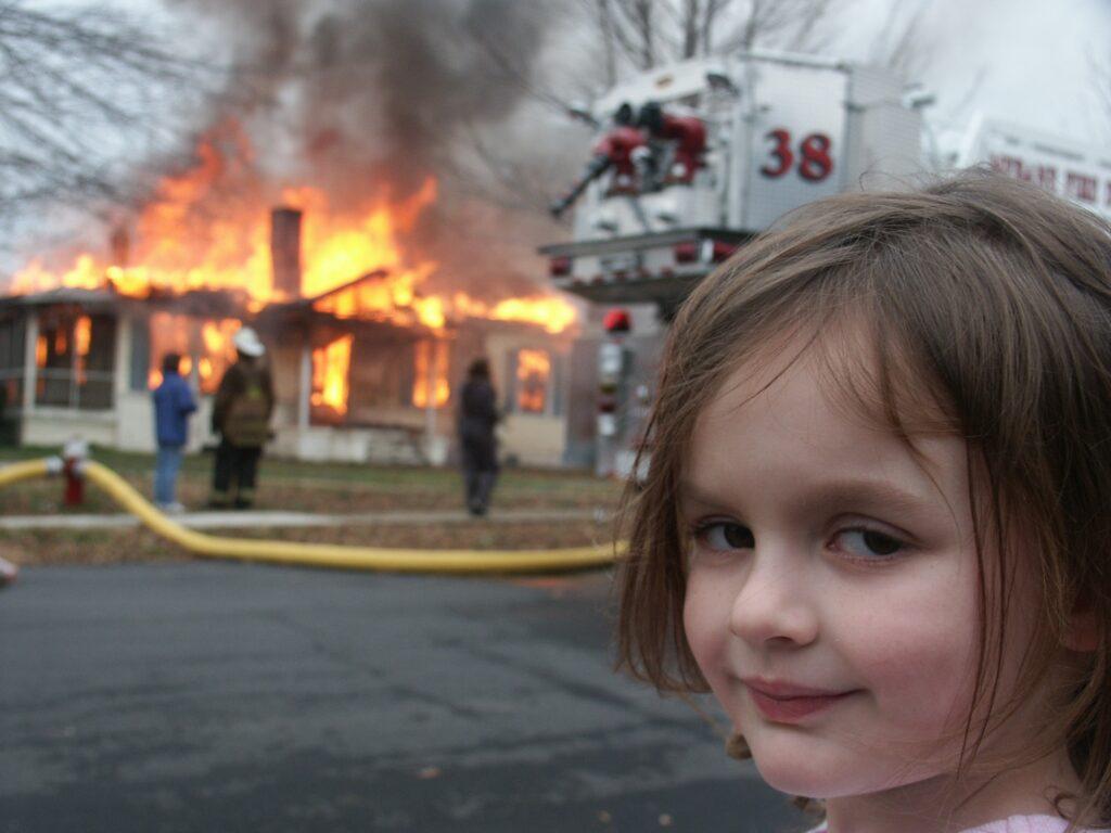 meme disaster girl nft
