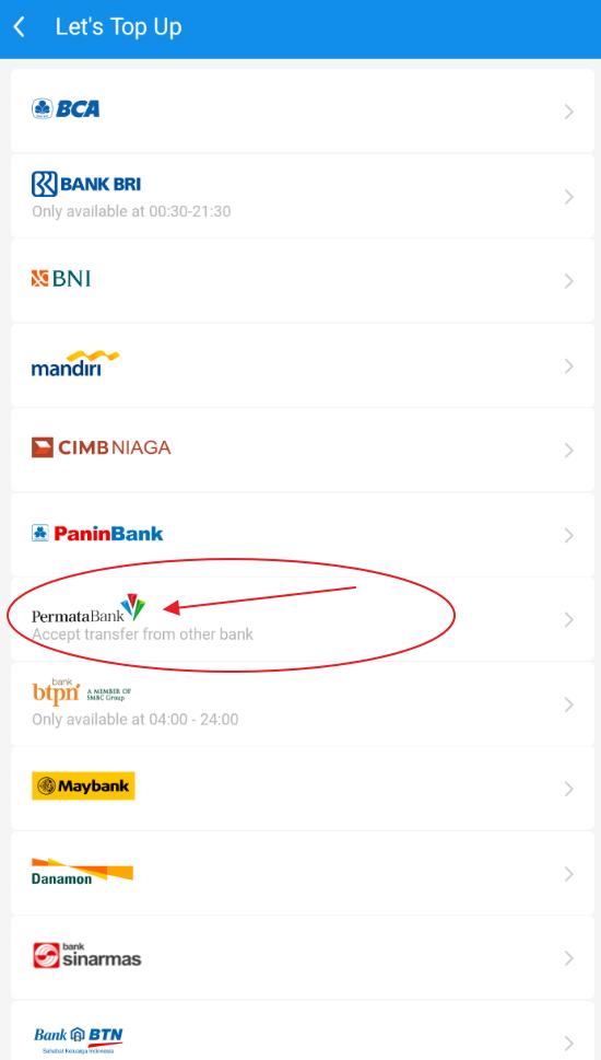 virtual account bank permata di aplikasi dana
