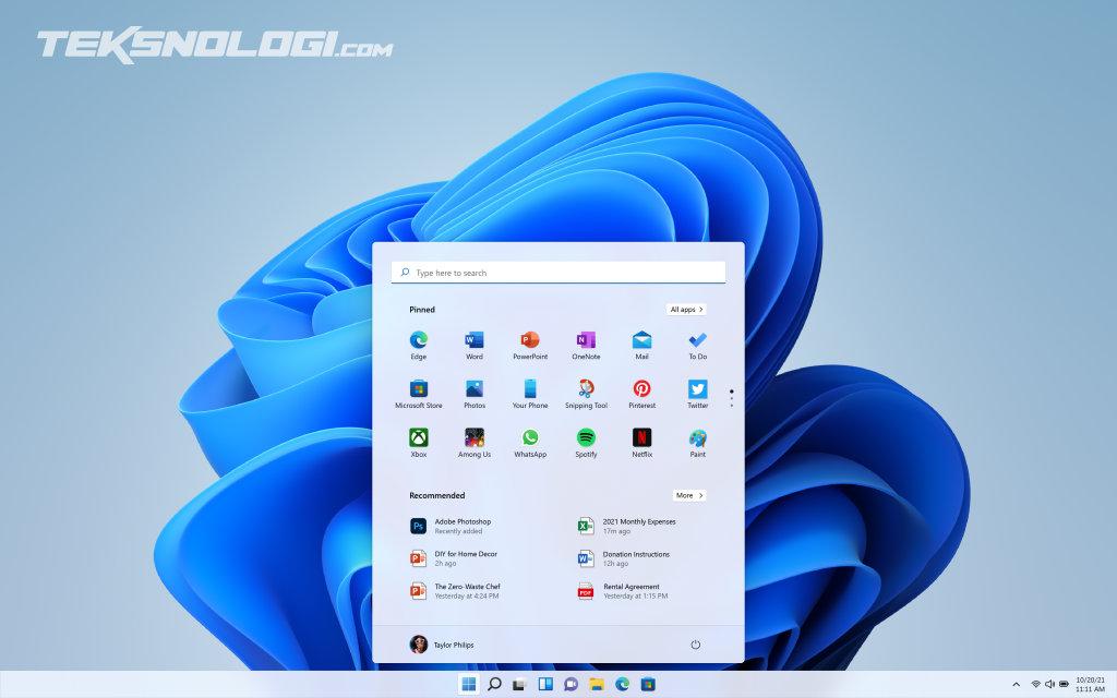 tampilan baru windows 11