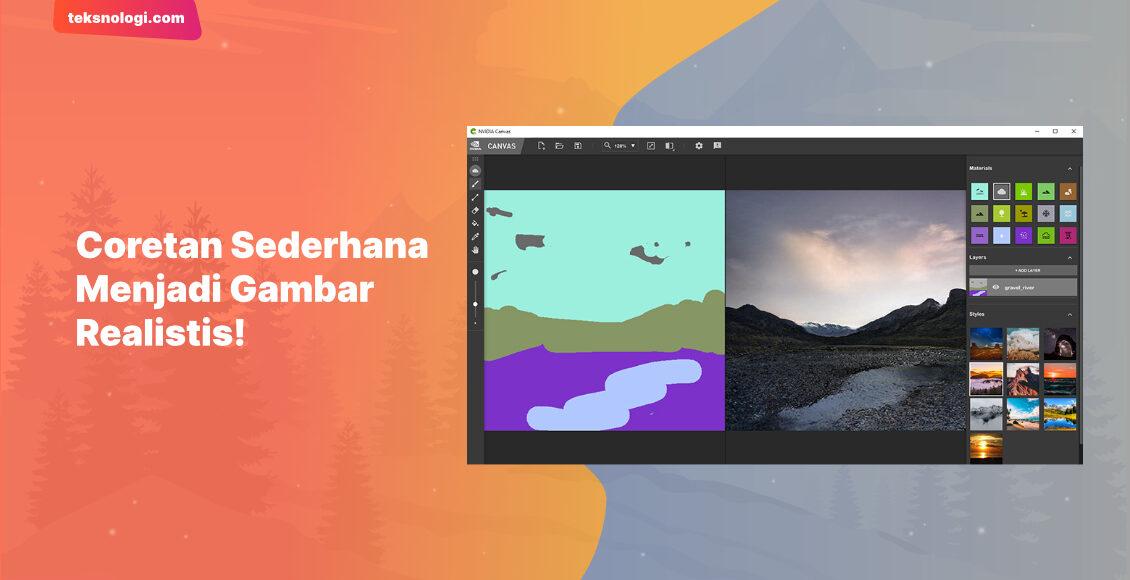 aplikasi-pengubah-gambar-coretan-menjadi-gambar-realistis-nvidia-canvas-ai