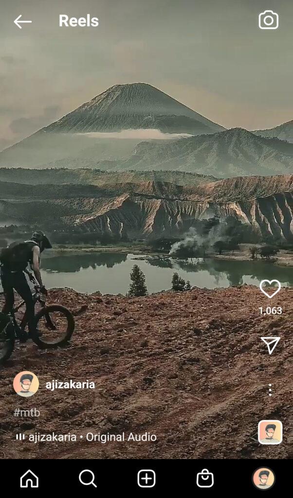 instagram reels dengan tampilan vertical video